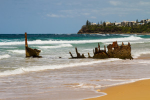 The wreck of the SS Dicky (1893), Dicky Beach